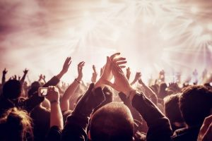 rock concert at a venue that has special event insurance