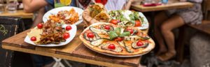 an Italian restaurant selling authentic pizza and other foods that could potentially benefit from restaurant insurance