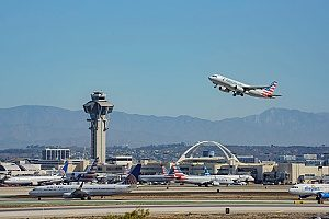 a picture of Los Angeles International Airport which is a restricted air space to drones and UAVs so flyers must have drone insurance in case they accidentally fly too close to the airport