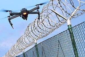 a drone that nearly crashed into barbed wire but was luckily covered with drone insurance in case something were to happen with it