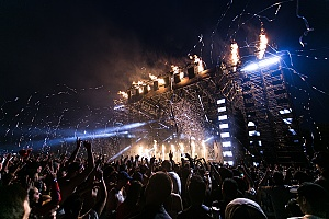 a live concert with a lot of pyrotechnics and equipment that has protection under insurance policies