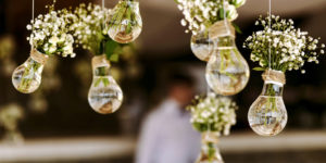 bulbs of flowers at a wedding ceremony that is covered by wedding insurance
