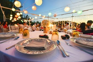 table setting at an event that should consider special event insurance