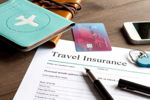 Person signing up for travel insurance