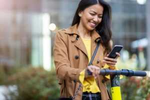 micromobility vehicles can be reserved via mobile apps