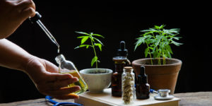 oregon dispensaries product set with black background