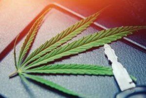 cannabis leaf with vehicle key that has Cannabis Cargo Insurance