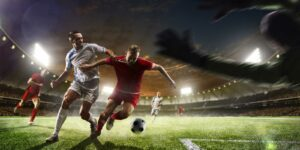 soccer players playing in a game that is covered by sports entertainment insurance