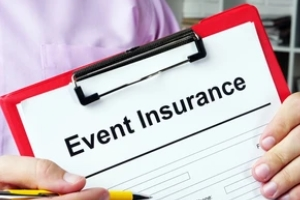 man holding clipboard with event insurance form