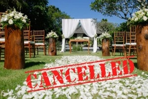 wedding event cancelled due to unknown reason